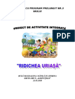 Ridichea Uriasa Proiect Didactic