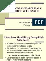 Alteraciones Metabolicas y Desequilibrio Acido Basico