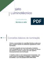 Projeto Luminotécnico apresente