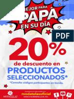 Poster Descuento Papa_Tabloide 11x17 Pulgadas