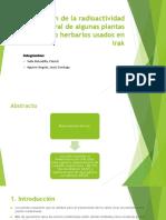 Estimación de La Radiactividad Natural de Algunas Plantas 1