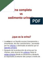 Orina Completa vs Sedimento Urinario