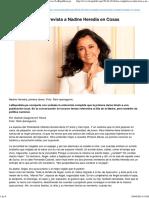 Lea Completa La Entrevista a Nadine Heredia en Cosas _ LaRepublica