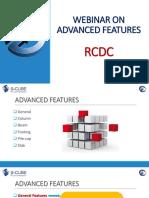 RCDC Advanced Features Webinar