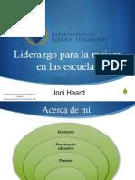 Conferencia II Liderazgo Para La Mejora en Las Escuelas Joni Heard