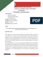 CONTAMINACIÓN DEL SECTOR DE IZAMBA EN EL CANTÓN AMBATO EN LA PROVINCIA DE TUNGURAHUA