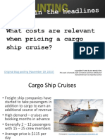 Cargo Ship Cruises Relevant Costs Ppt1 3