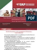 Derecho Económico en Las Actividades de Produccion, Comercializacion y Consumo[1]