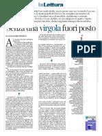 Alessandro Piperno recensisce Questione di virgole su la Lettura