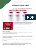 Veinox - Para Que Serve, Composição, Resultados e Relatos - Treino Mestre