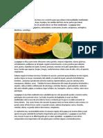 Propiedades Medicinales Papaya