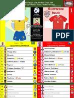 VM Grupp E 180617 Brasilien - Schweiz 1-1