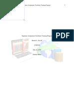 bstovall uopx cur32 week 6 signature assignment facilitator training program final draft