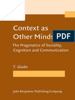 [Talmy Givon] Context as Other Minds the Pragmati(Bookos.org)