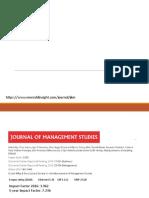 Journal of Management Studies - Apresentação