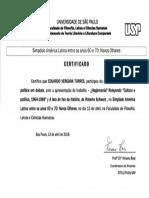 Certificado Ponencia USP 2018