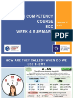 English competency course clases