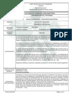 Programa Salud Ocupacional y Seguridad Indusrtrial