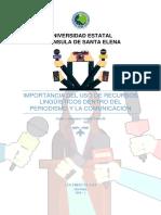 Geovanny Suárez - Ensayo, Importancia Del Uso de Los Recursos Linguísticos en Comunicación