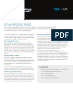 Dell Poweredge r630 Spec Sheet
