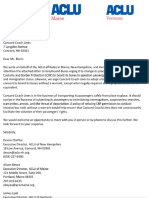 ACLU Letter to bus companies