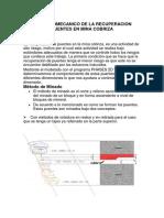 Estudio Geomecanico de La Recuperacion de Puentes en Mina Cobriza
