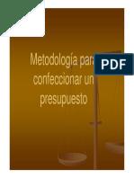 Metodología Para Confeccionar Un Presupuesto Prof. Jean Pierre