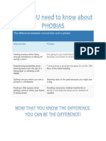 the difference between normal fear and a phobia