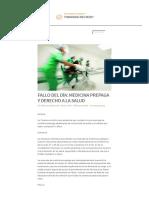 Fallo Del Día_ Medicina Prepaga y Derecho a La Salud