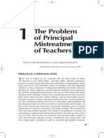 The Problem of Principal Mistreatment of Teachers