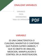 Operacionalizar Variables