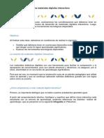 El Desarrollo de Los Materiales Digitales Interactivos