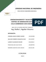 DIMENSIONAMIENTO Y SELECCIÓN DE UNA CENTRAL DE GENERACION ELECTRICA DE CICLO COMBINADO CON COGENERACION