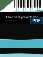 Plantilla de PPT Piano