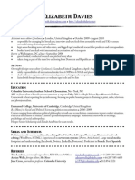 1-page CV for web