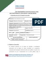 Desempeño Institucional Del Sector Público Estados y Municipios (2017)
