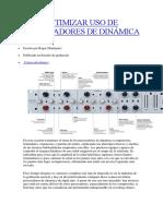 Optimizar Uso de Procesadores de Dinámica