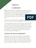 Informe Sobre Asbesto