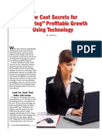 """Low Cost Secrets for """"Ensuring"""" Profitable Growth Using Technology by Erik Vicars"""