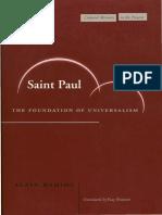Alain Badiou, Ray Brassier Saint Paul The Foundation of Universalism .pdf