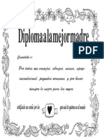 Diploma Madre