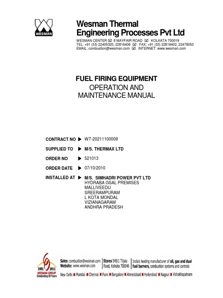 Magnificent Thermax Boiler Manual Pdf Collection - Wiring Diagram ...