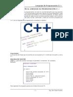 Sesión 01 Introduccion al C++