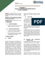 Informe Comunicaciones 3-1