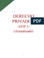 Derecho Privado 1 - Efip 1