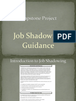 Capstone Project Job Shadowing Exemplar