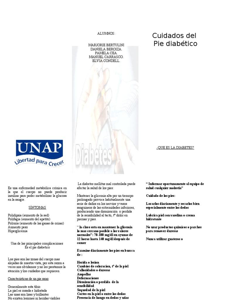 molestias en los pies por diabetes tipo