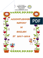 Accomplishment in English 2017