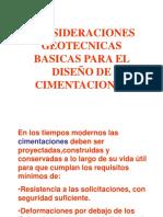 CLASE  CIMENTACIONES INICIAL CRITERIOS Y FALLAS Sep 2012.ppt