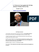 Dr.zakir Naik's Victory in Court Against the UK Ban From (Enemy of Islam) Theresa May